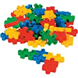 "Puzzle-shaped Block Set (50 Pcs) 2 1/4"" X 1 3/8"". Plastic."