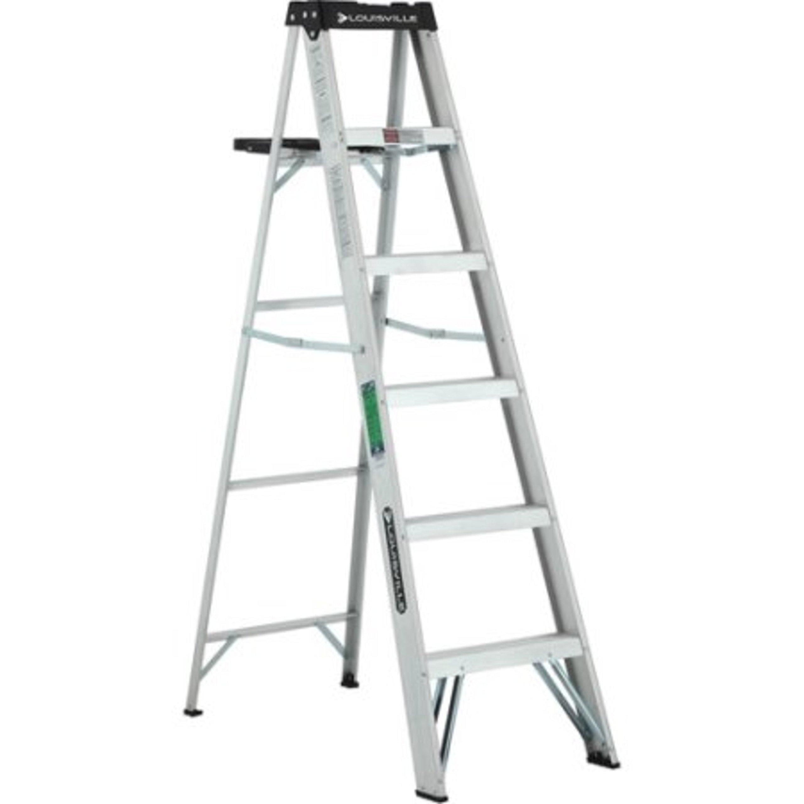 Aluminum Lightweight Molded Plastic Top Ladder
