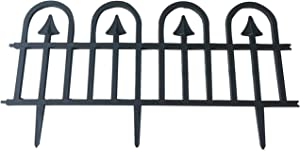 Abba Patio Garden Fence Recycled Plastic Landscape Edging 6 Sections 24.5