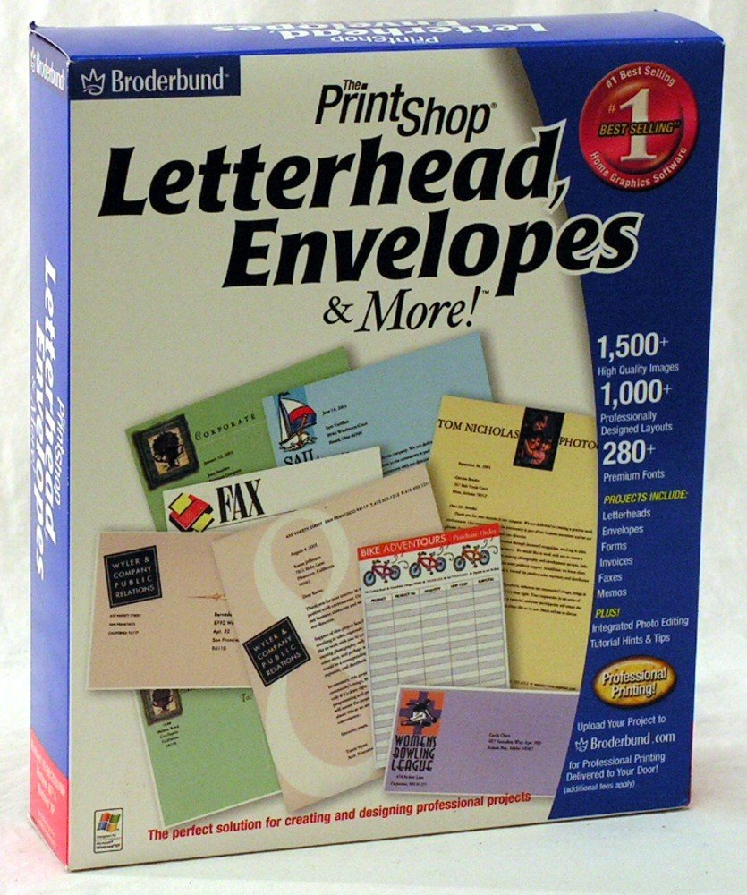 The Print Shop Letterheads & More by Riverdeep