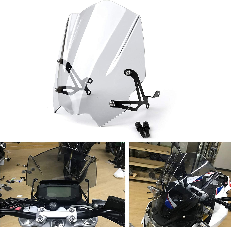 YUQINN Motorradteile For BMW G310R 2017-2018 ABS Windschutzscheibe Windschutzscheibe mit Montagewinkel G 310 R Verkleidungs ABS Plastikmotorrad Color : Black