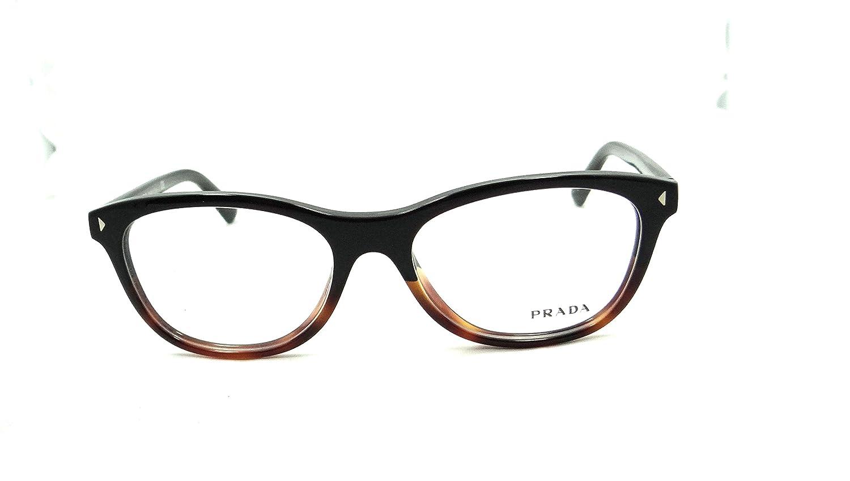 c84590bb37bf Amazon.com  Prada Rx Eyeglasses Frames Vpr 05r Tka-1o1 53x17 Black Tortoise  Made in Italy  Clothing