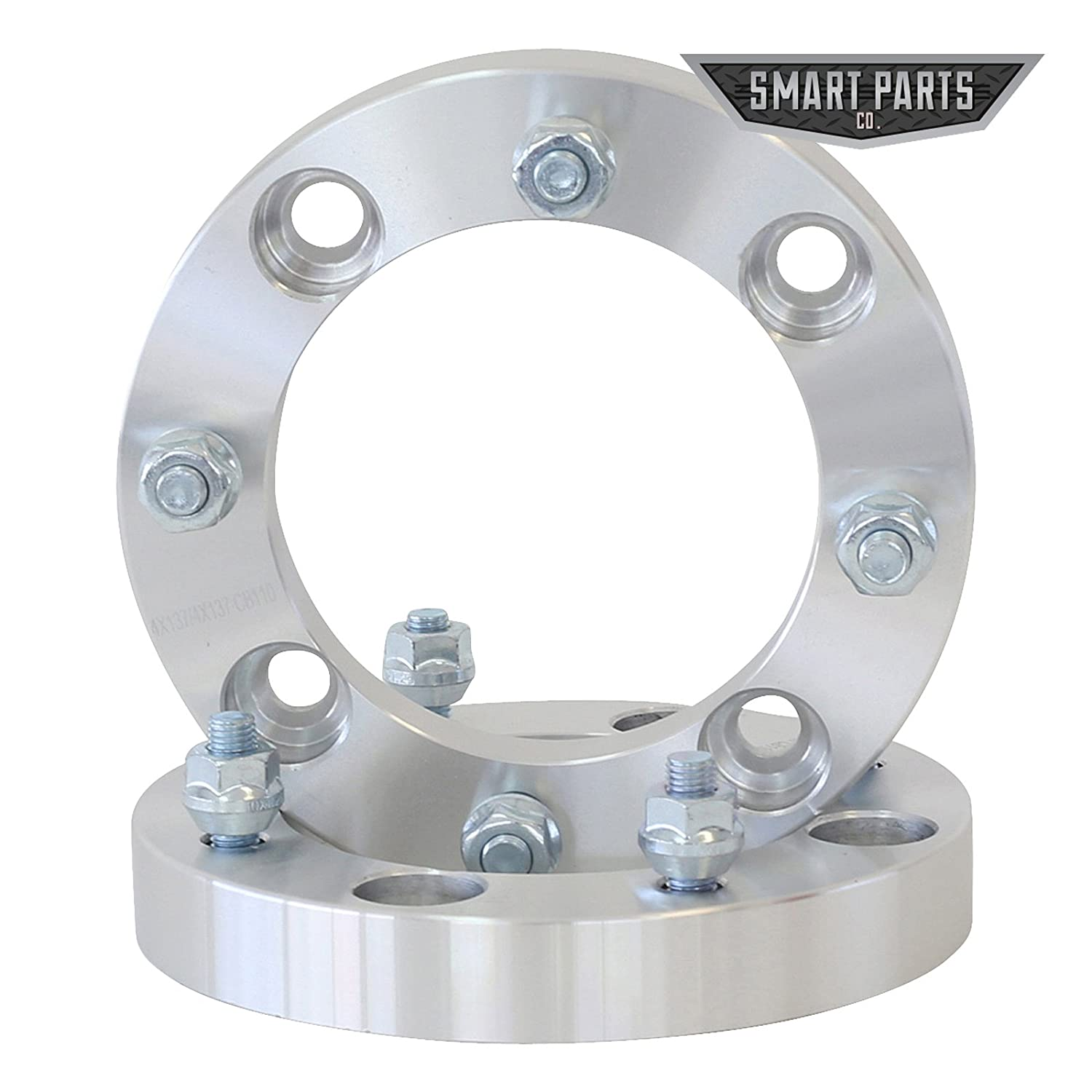 4 QTY ATV Wheel Spacers 2' (1 inch Per Side) fits all 4x137 bolt patterns - CAN-AM Bombardier Renegade Outlander Commander Kawasaki Mule Prairie Brute Force Bayou 4x137 Wheel Spacer SmartPartsCo.com 4333426528