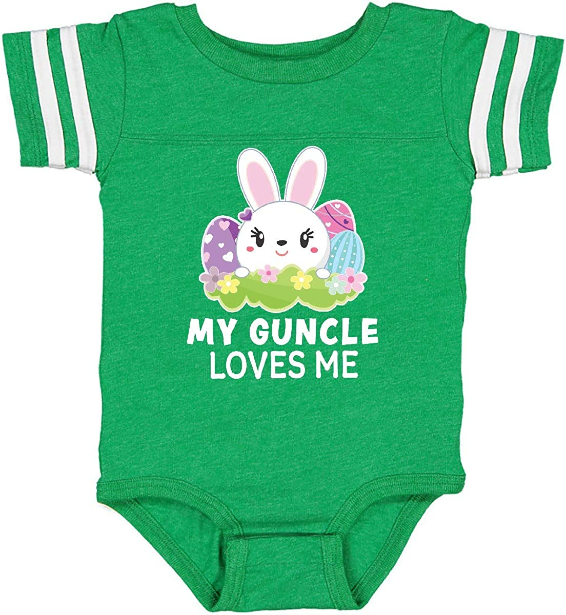 inktastic My Guncle Loves Me with Bunny and Easter Eggs Infant Creeper