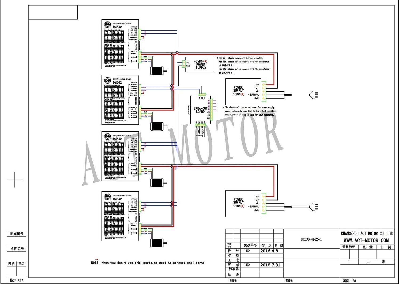 ACT moteur GmbH 1 Axis Nema 23 CNC Kit 23hs2442 Single Shaft 4.2 a 112 mm 425oz-in