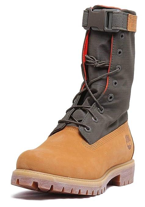 Timberland Mens 6 Inch Gaiter Wheat Botas de Hombre de Cuero Amarillo: Amazon.es: Zapatos y complementos