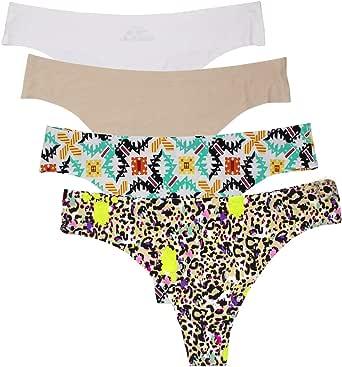 NATUCE Braguitas Culotte Mujer de Microfibra Tangas Sin Costura para Mujer Pack de 4: Amazon.es: Ropa y accesorios