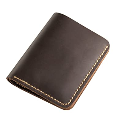 4d49cc2a5001 Image Unavailable. Image not available for. Color  Ancicraft Wallets For Men  Leather Bifold Handmade Vintage Dark Brown Gift