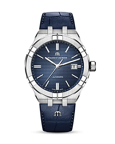Maurice Lacroix Aikon Gents Automatic Watch, 42 Mm, Blue, Ai6008 Ss001 430 1 by Maurice Lacroix