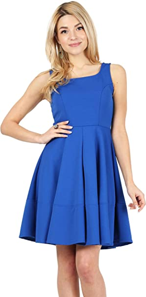 Womens Summer Skater Swing Dress Party Semi Formal Dress Reg. and Plus Size  - Made in USA