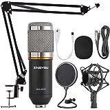 ZINGYOU Condenser Microphone Bundle, BM-800 Mic Kit with Adjustable Mic Suspension Scissor Arm, Shock Mount and Double…