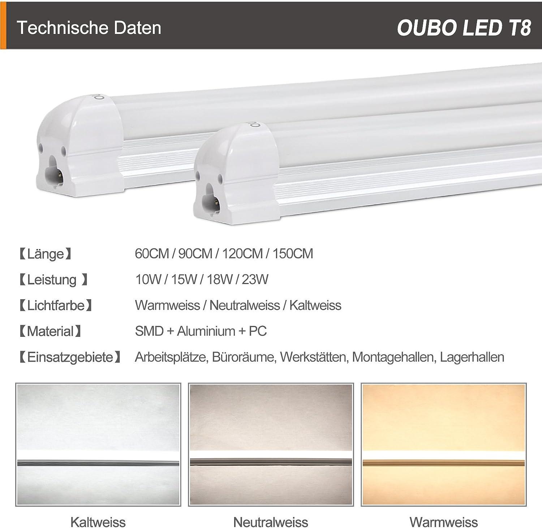 Barra de luz LED OUBO® 17 cm, 17 vatios, lámpara fluorescente de