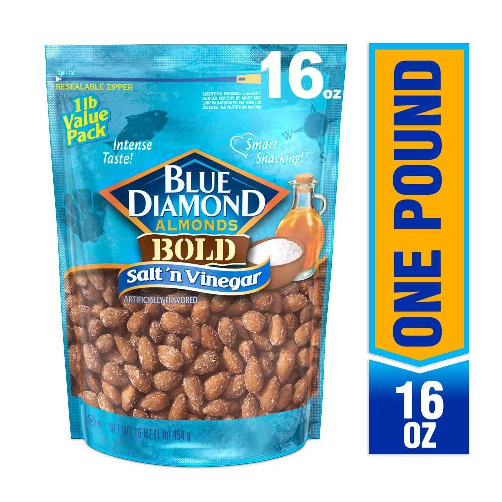 Blue Diamond Almonds, Bold Salt 'n Vinegar, 16 Ounce by Blue Diamond Almonds (Image #1)