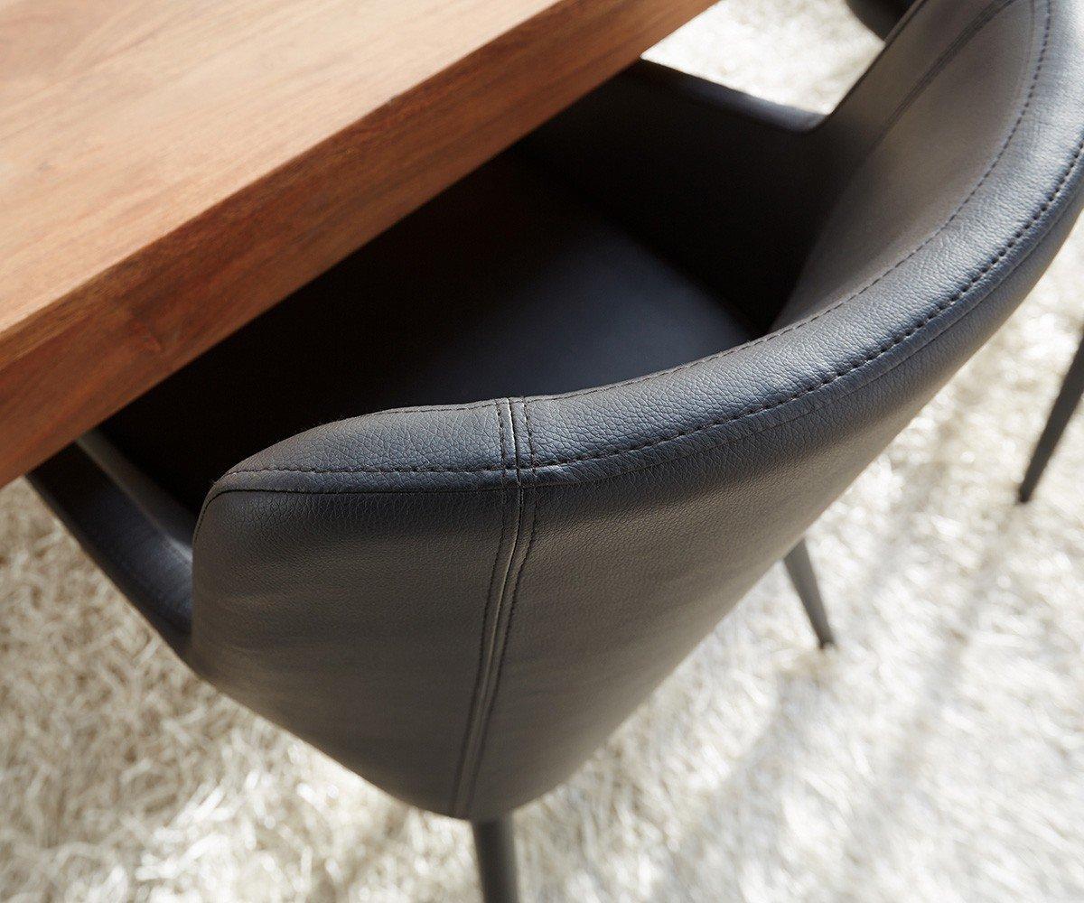 Küchenstuhl Volcan Beine Metall Schwarz mit Armlehnen Esszimmerstuhl ...