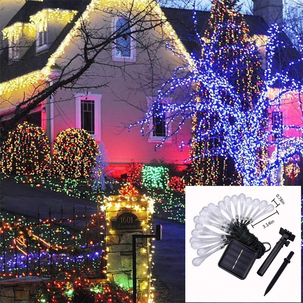 2-6M Rose Flowers Lights String Battery Operated Fairy Christmas Chic Decor Warm