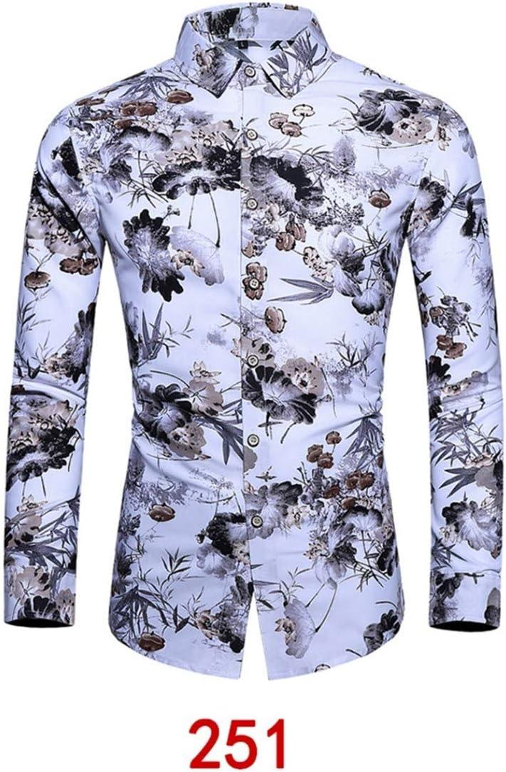 Camisas De Hombre,Moda Hombres Primavera Y Verano Hoja Flor ...