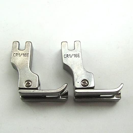 kunpeng – derecho Compensadores pie para máquina de coser Industrial tamaño 1/16 # CR 1/16e=211 (2pcs): Amazon.es: Hogar
