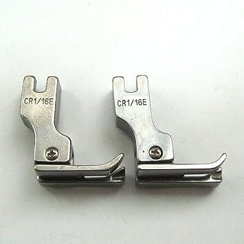 kunpeng - derecho Compensadores pie para máquina de coser Industrial tamaño 1/16 # CR 1/16e=211 (2pcs): Amazon.es: Hogar