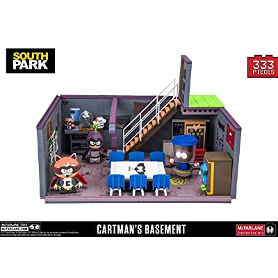 McFarlane South Park Cartman's Basement with Cartman Kenny and Token Exclusive Construction Set: Toys & Games