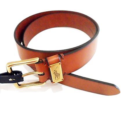 956d20ceee80c Genuine RALPH LAUREN Mens Leather Belt (Tan Gold) - 405547279002 (38 quot
