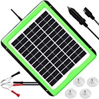 SOLPERK 5W Solar Panel, Solar Battery Trickle Charger, 12V Solar Car Battery Charger and Maintainer, Suitable for Automotive, Motorcycle, Boat, Marine, RV, Trailer, Powersports, Snowmobile, etc.