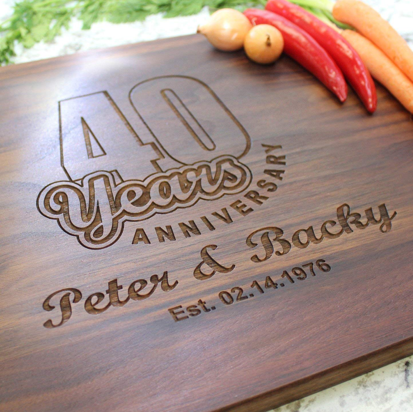 Wedding Anniversary Personalized Cutting Board - Engraved Cutting Board, Custom Cutting Board, Wedding Gift, Housewarming Gift, Anniversary Gift, Engagement W-023GB