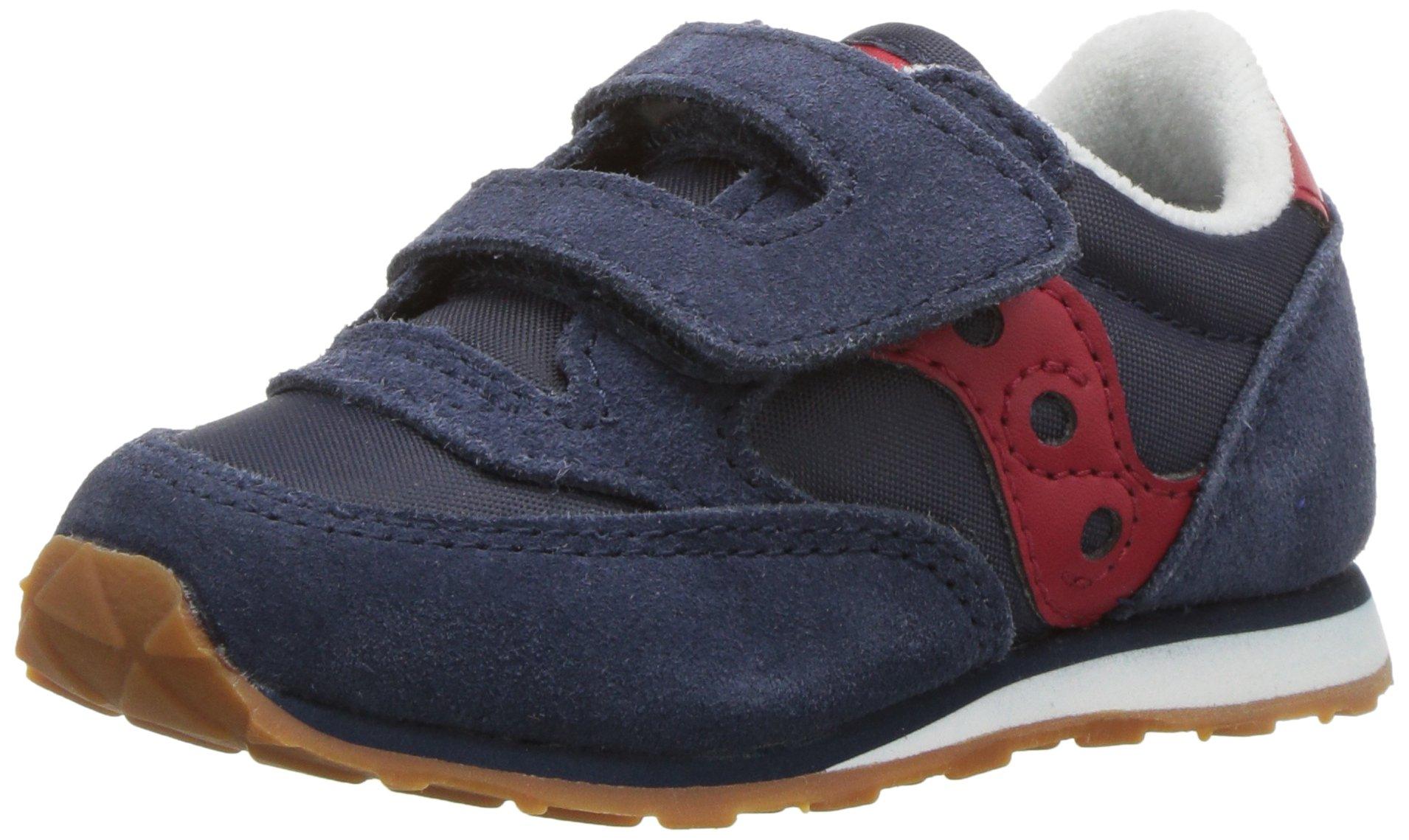 Saucony Baby Jazz Hook & Loop Sneaker Little Kid 8 Navy/Red