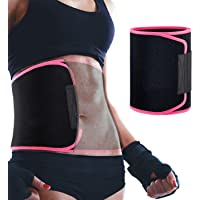 Waist Trimmer Belt for Women & Men, Sweet Sweat Premium Waist Trainer Belt Back Support Stomach Fat Burner Wrap with…