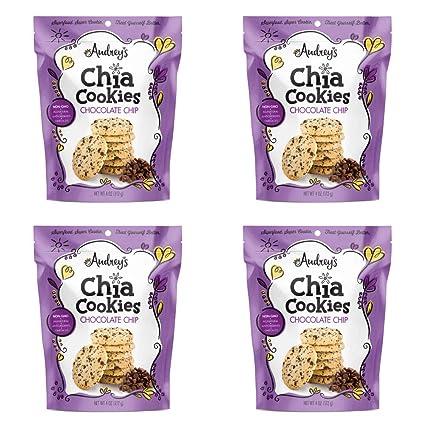 Galletas Chia de Audrey: galletas de tamaño de mordida con ...