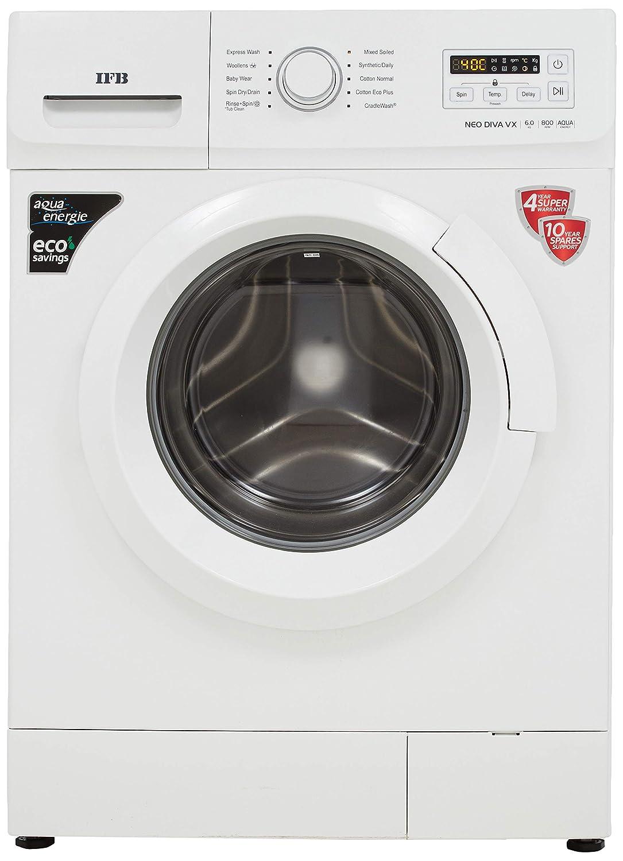 IFB 6 Kg 5 Star Fully-Automatic Front Loading Washing Machine (NEODIVA-VX, White, Inbuilt Heater)
