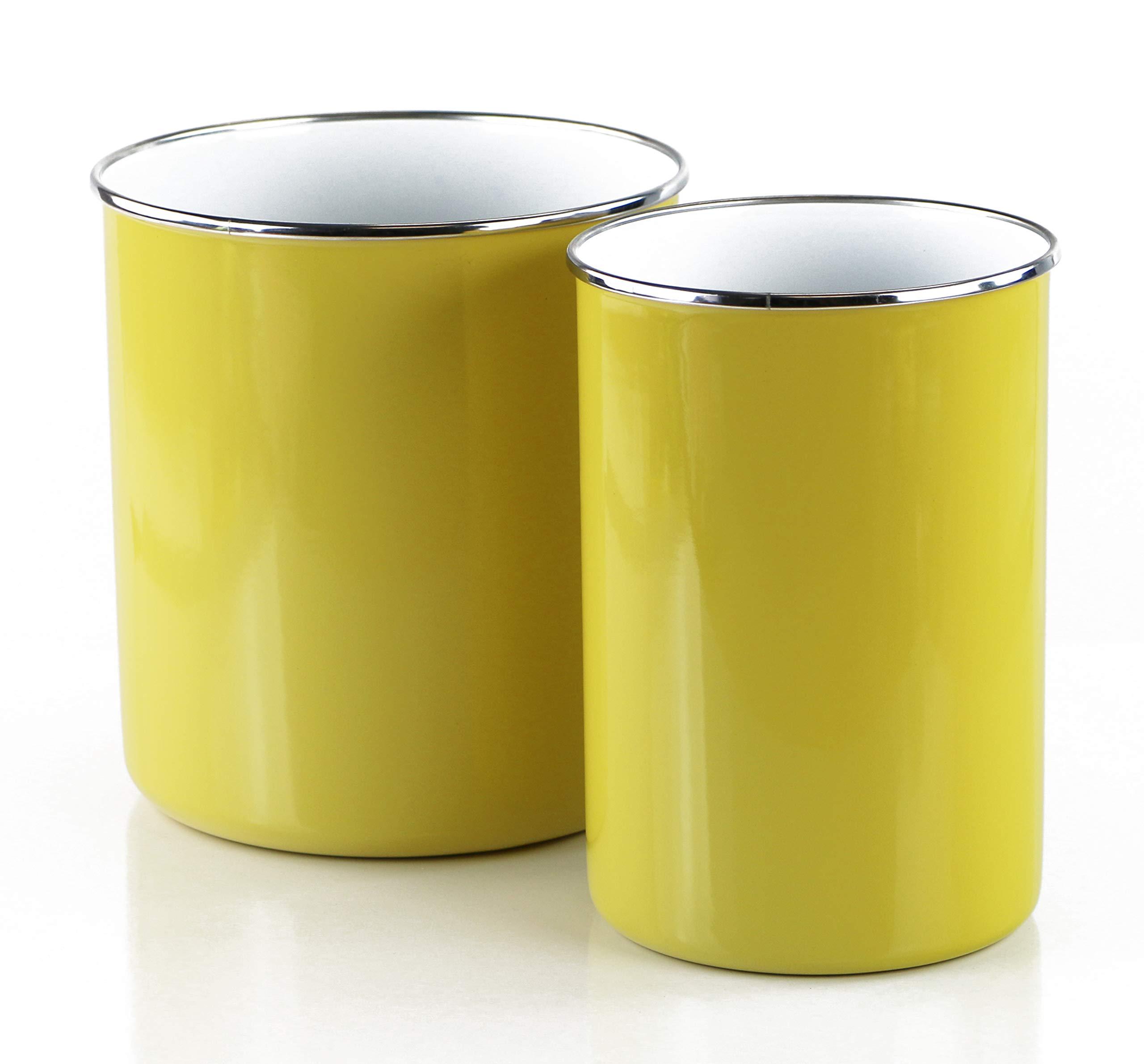 Reston Lloyd 82521M Calypso Basic, 2pc Enamel Set, Lemon Utensil Holder, Set of 2, by Reston Lloyd