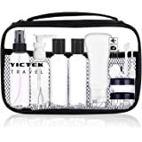 Empty Plastic Travel Bottles Containers 2 oz, Travel Size Toiletries Tubes Kit for Liquids, Carry-On Set for Women/Men