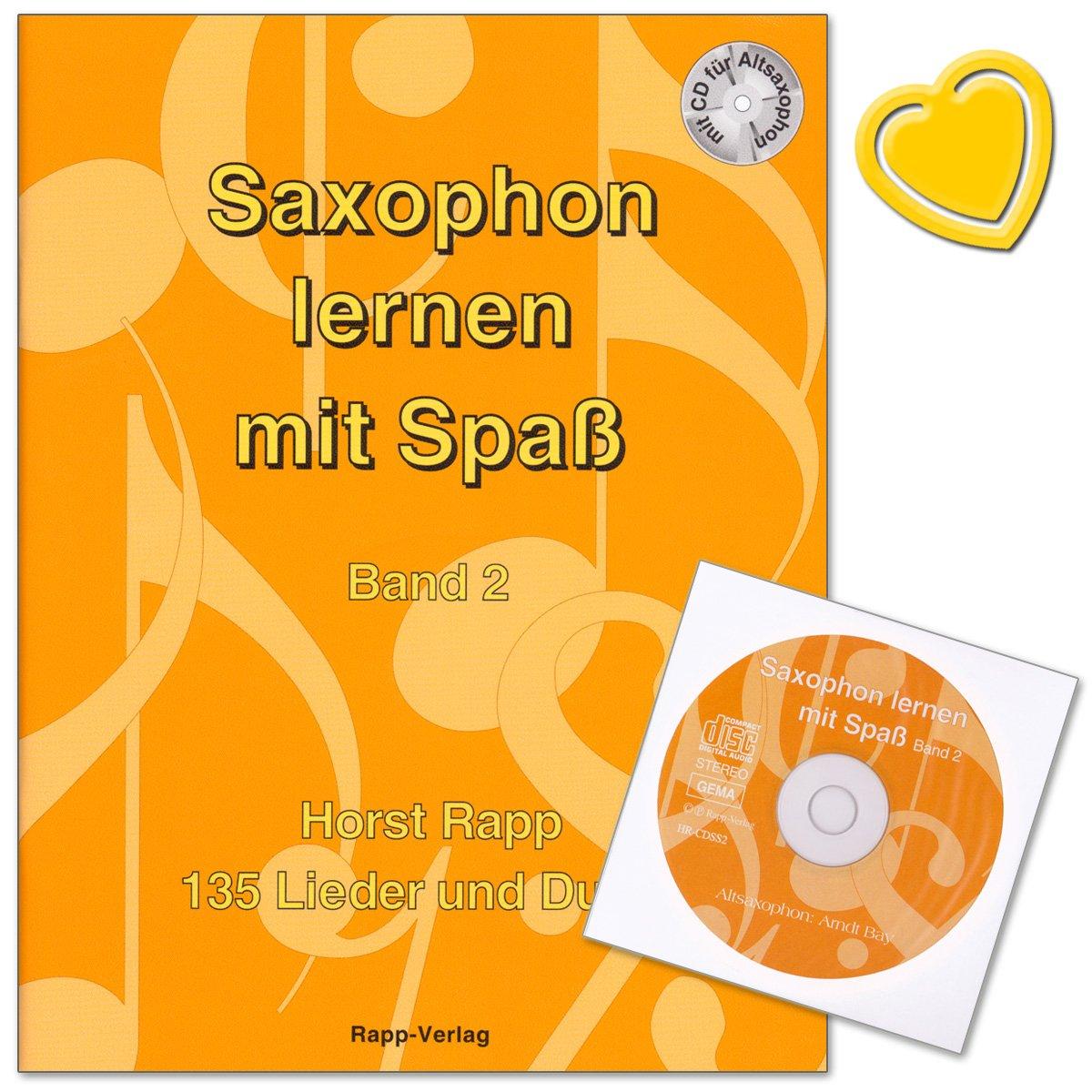 Saxophon lernen mit Spaß Band 2 von Horst Rapp - 135 Lieder und ...