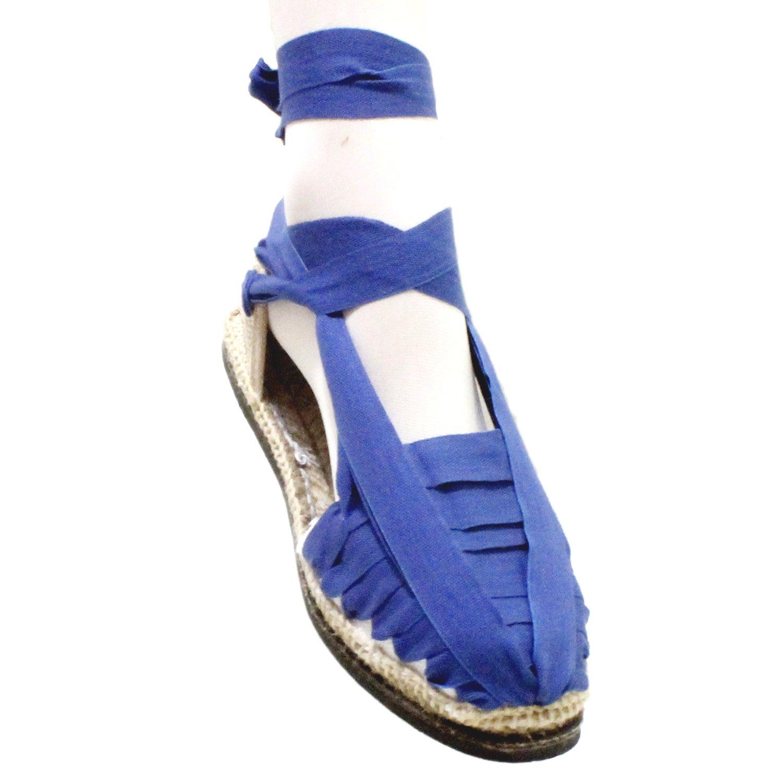 Alpargatas Pincho de Betas Azules con Suela de Goma - Espardenyes Set Vetes blaves amb Sola de Goma - Añil, 39: Amazon.es: Zapatos y complementos