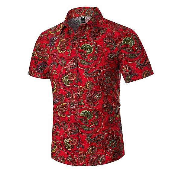 Camisas Hombre Flores 2019 Moda SHOBDW Playa de Verano Impresión ...