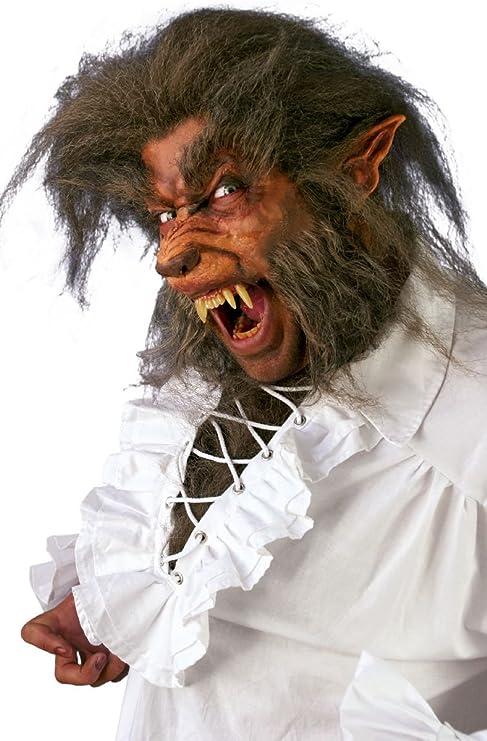 Halloween Set Werwolf Wolf Latex Schnauze Ohren Bart Brauen Make Up