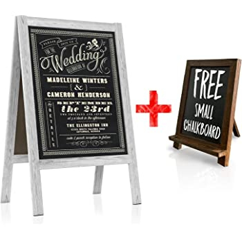 Amazon.com : Chalkboard Wedding Sign - Large A Frame Standing ...