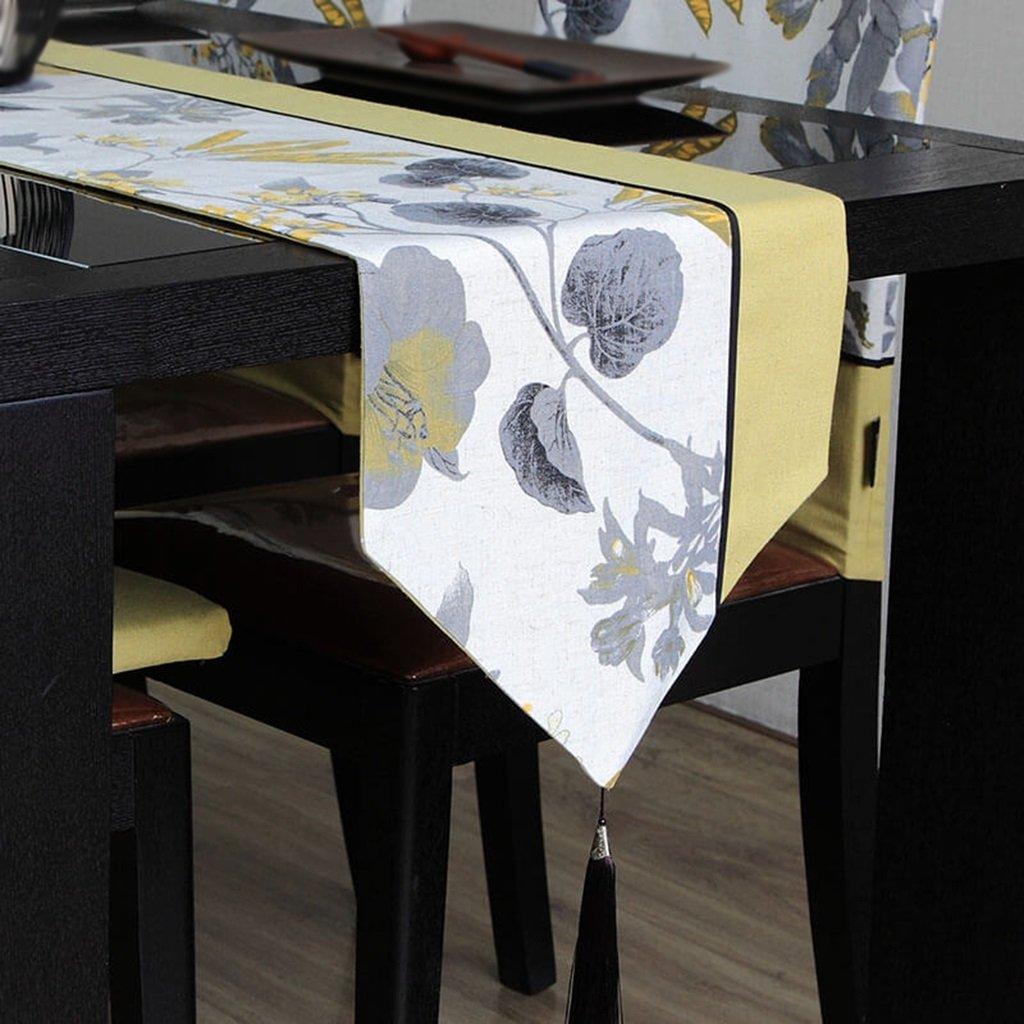 ERRU-Corredor de la tabla Mesa Runner Bed Runner Mesa de comedor Tela Impresión de tinta Mesa de café Paño de lino TV Paño del gabinete Paño Ropa de cama Manteles ( Tamaño : 32180cm )
