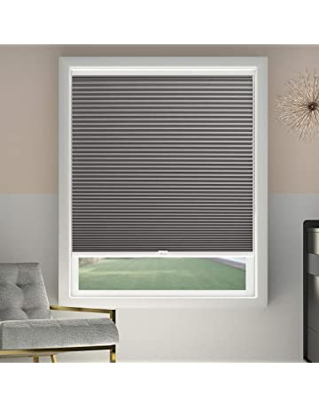 Cellular Blinds Cordless Blackout Honeycomb Shades Fabric Window Blinds  34x64 Inch, Cool Silver(Blackout