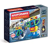 Magformers Walking Robot Car (45 Pieces) Set, Rainbow Magnetic Building Blocks, Educational Magnetic Tiles Kit , Magnetic Con