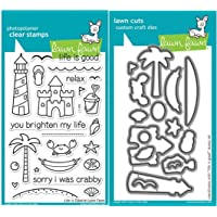 Lawn Fawn Life Is Good Clear Stamp and Die Set - Includes One Each of LF680 (Stamp) & LF681 (Die) - Custom Set