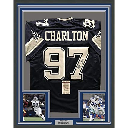 Image Unavailable. Image not available for. Color  Framed Autographed Signed  Taco Charlton 33x42 Dallas Cowboys Blue Football Jersey JSA COA c35cd6ac3