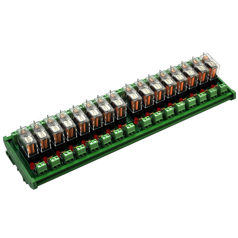 G2R-1-E 12V. Electronics-Salon AC//DC 12V Slim DIN Rail Mount 16Amp SPDT Power Relay Interface Module