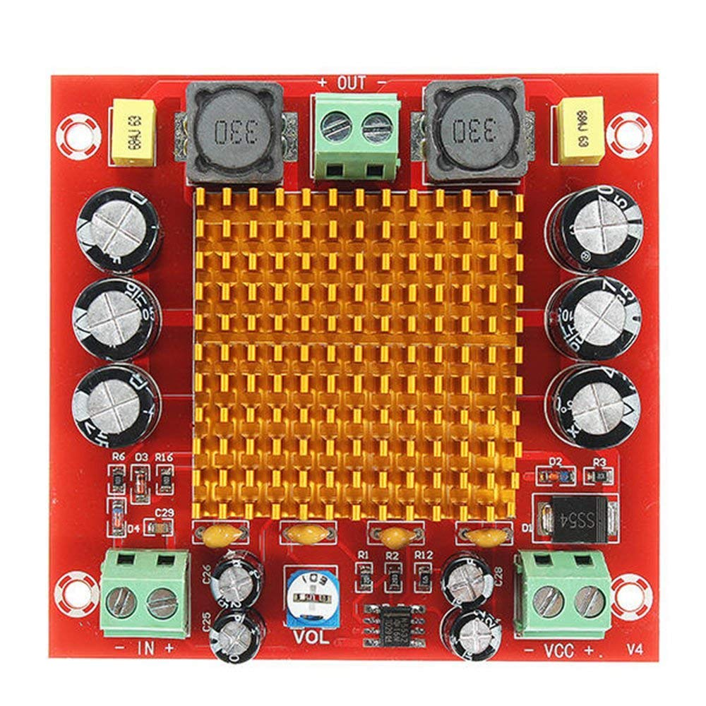 ARCELI Pratique et Solide XH-M544 DC 12V 24V 150W TPA3116DA TPA3116 D2 Mono Channel Multi-Color Mixed