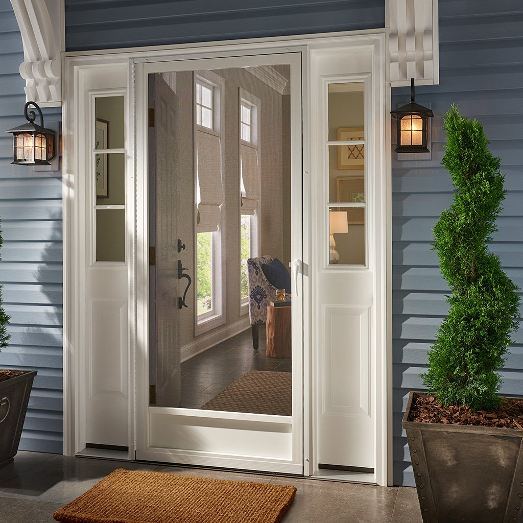 Still Waters White Aluminum Screen Door (80x36) by PCA Products (Image #2)