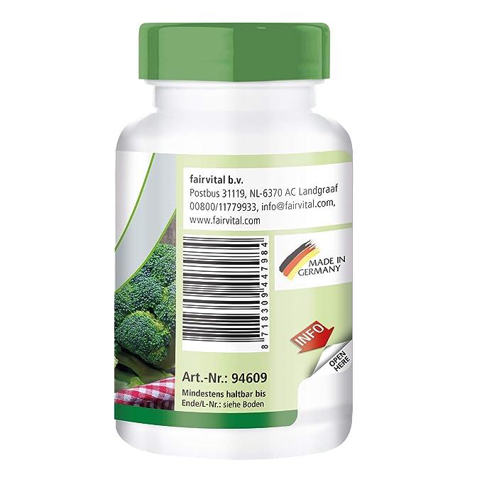 Extracto de Brócoli DIM y el sulforafano - VEGANO - ALTA DOSIS - 90 comprimidos: Amazon.es: Salud y cuidado personal