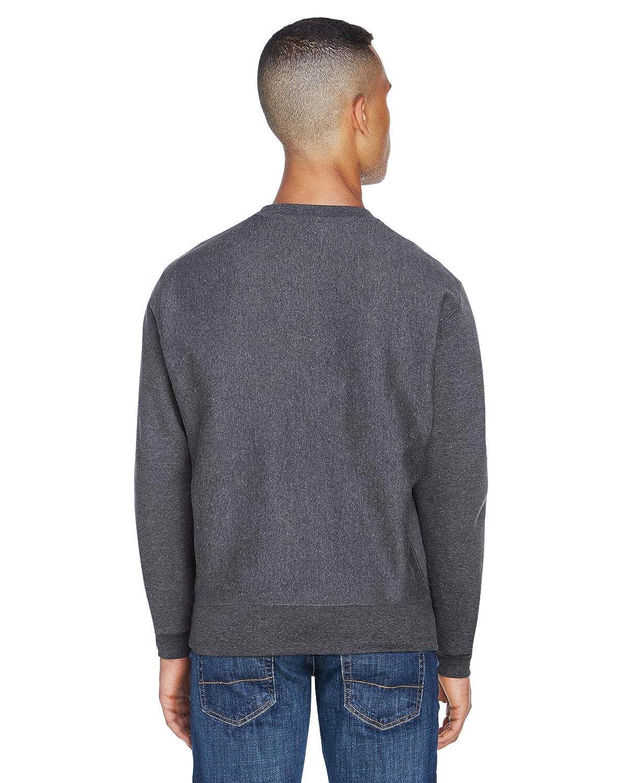 J JA8446 -Charcoal -2XL America Adult Sport Weave Crew Neck Sweatshirt