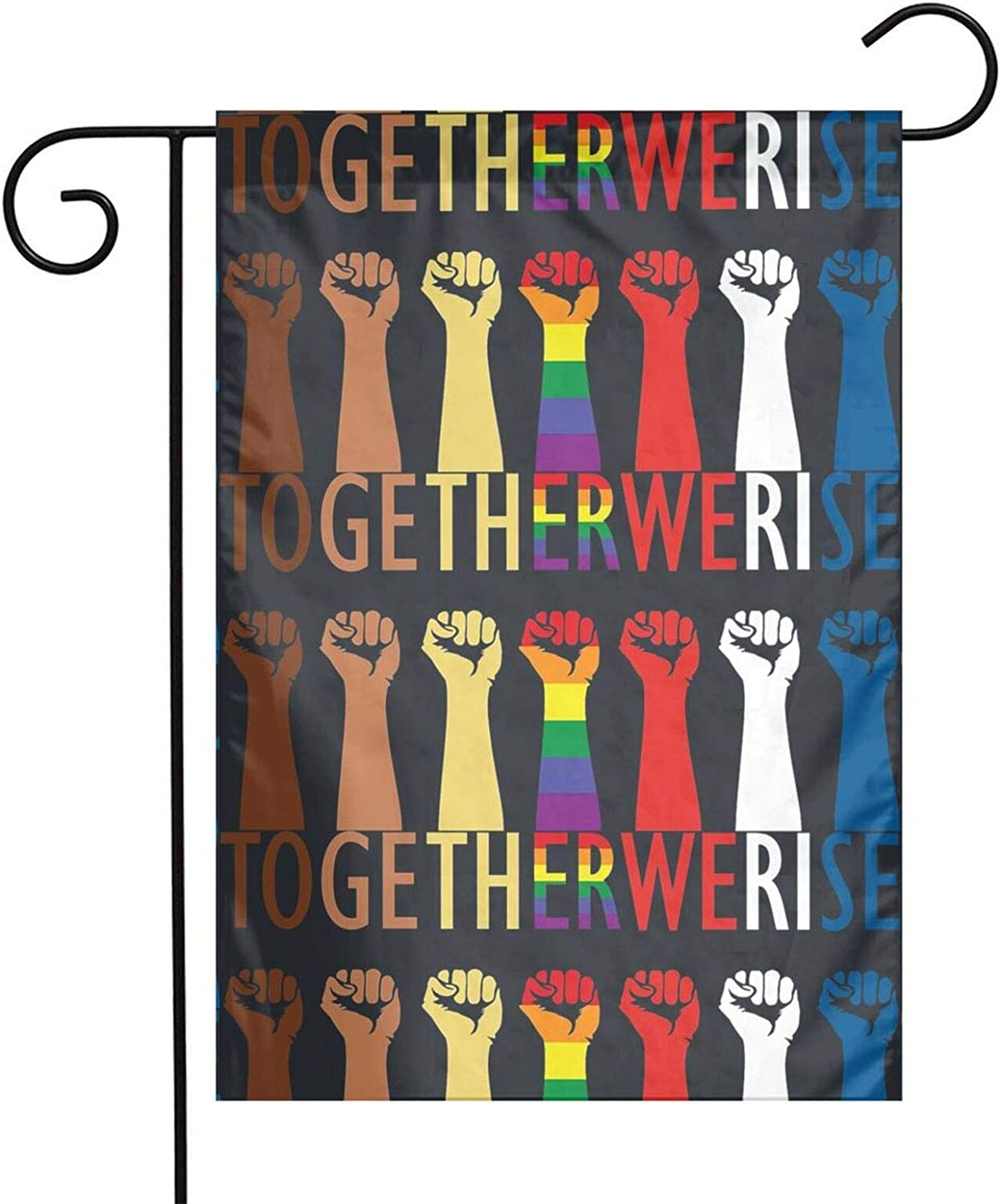 Leonner Together We Rise - Black Lives Matter I Can't Breathe-George Floyd Garden Flag 1218 Or Flag 4x6 Ftag