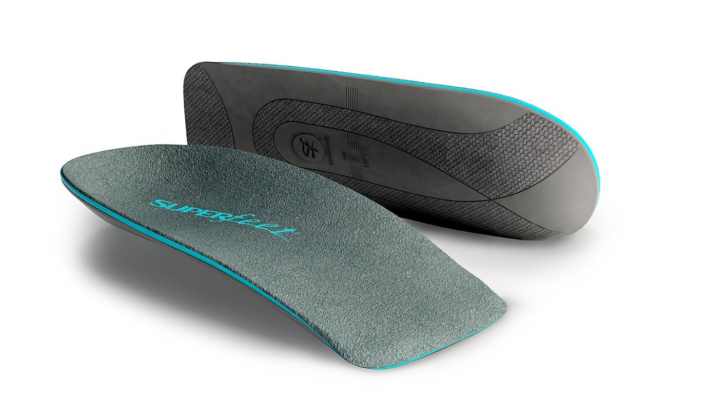 Superfeet Everyday Men's Slim Fit, Thin and Strong Arch Support in Dress Shoe Insoles, Stone, Large/E: 9.5-11 US Mens by Superfeet