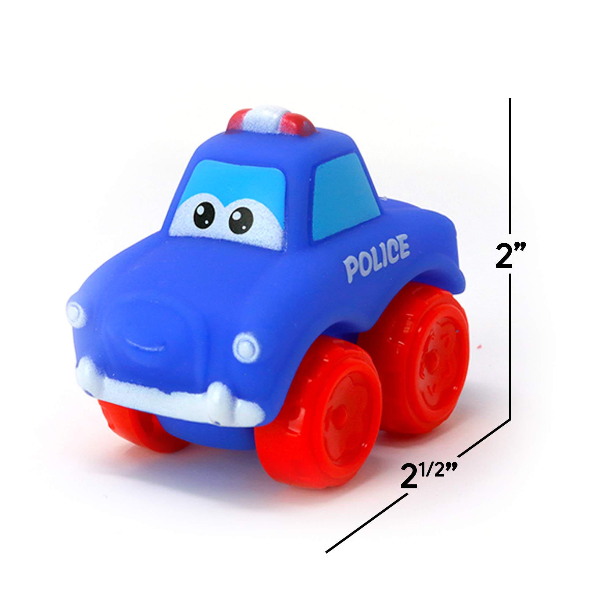 Big Mo's Toys Baby Cars - Soft Rubber Toy Vehicles for Babies and Toddlers - 12 Pieces by Big Mo's Toys (Image #7)